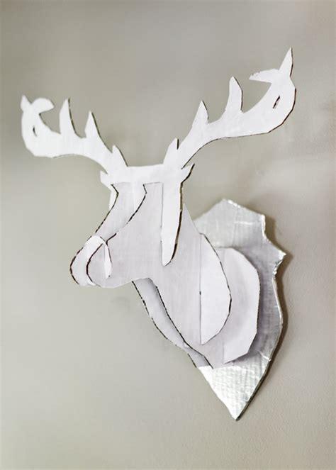 paper mache deer template paper format
