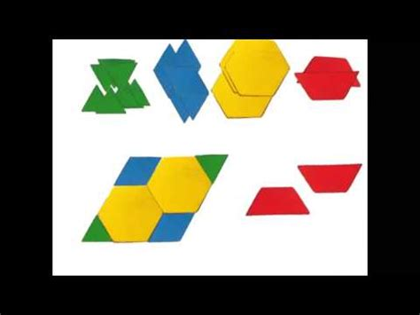 youtube pattern blocks pattern block fractions youtube