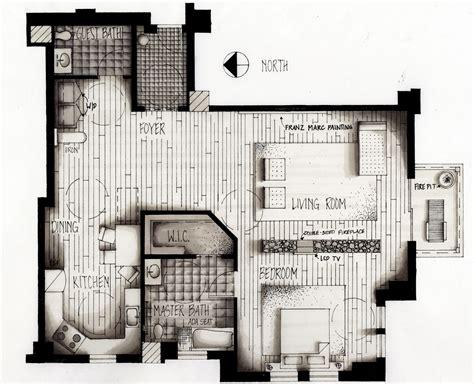 hand rendered floor plan architectural plan hand drawings google s 248 k floor
