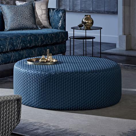 bespoke lusso struttura midnight blue footstool