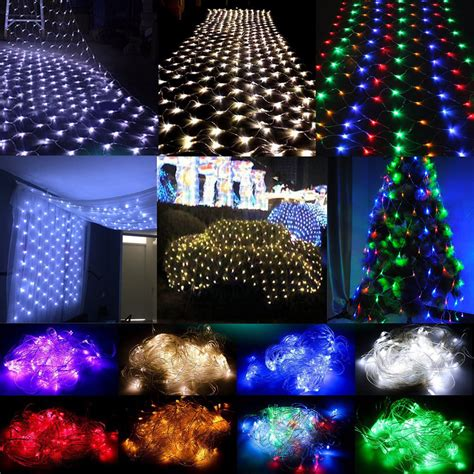 white 3mx2m 204 led net mesh lights fairy christmas tree