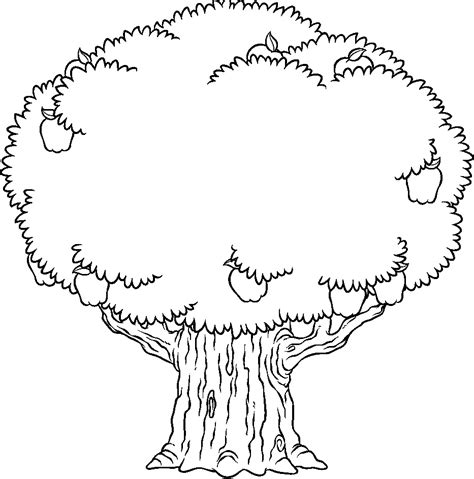 coloring oak tree coloring page