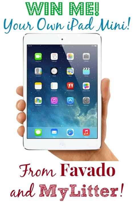Ipad Sweepstakes - enter to win an ipad mini merry christmas from favado and mylitter mylitter one