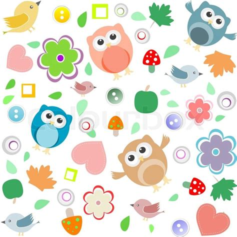 Owl Fall Leaf Iphone All Hp seamless background with owls leafs mushrooms and
