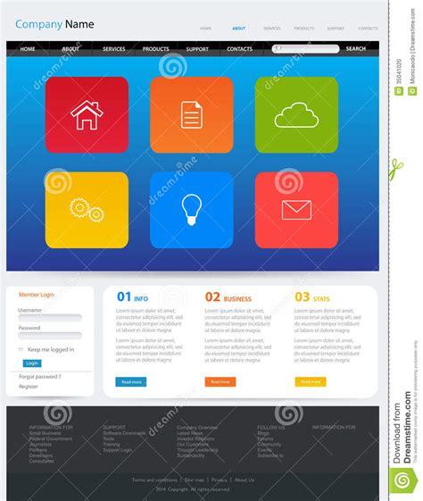 website layout template vector website template design stock photo image 35041020