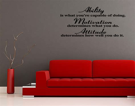 inspirational quotes wall stickers attitude ability vinyl wall quote decal sticker inspirational lettering new ebay