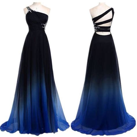 chagne color prom dress blue black fade dress from nastydress clothes fashion