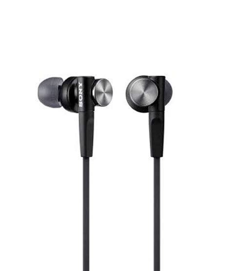Headphone Sony Bass Mdr Xb 450 Ap Mic sony mdr xb50ap in ear bass xb headphones with mic black with mic available at snapdeal