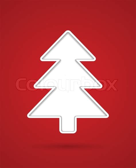 cut out christmas tree stock vector colourbox