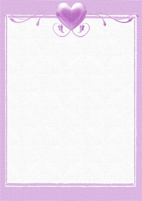 A4 Valentines Day Holiday Stationery Pg 1 Downloadable Stationery Templates