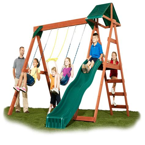 lowes swing sets installed shop swing n slide mckinley ready to assemble kit