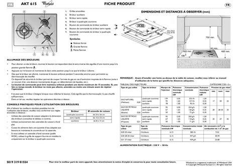 plaque vitroceramique whirlpool 7767 mode d emploi plaque de cuisson whirlpool akt 615 ixl