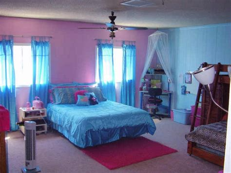 blue and pink bedroom designs a creative color