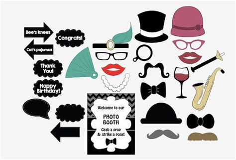 printable gatsby photo booth props 291 best images about year 6 party random inspiration on