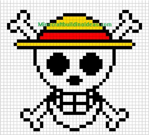 minecraft skin template grid minecraft pixel templates straw hat luffy pixel