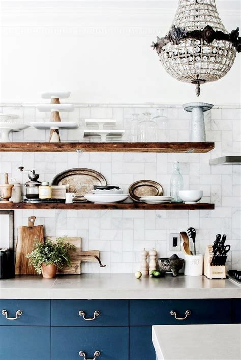 dress your kitchen in style with some white subway tiles how to style your kitchen shelves coco kelley