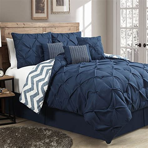 geneva home fashion 7 piece ella pinch pleat comforter set