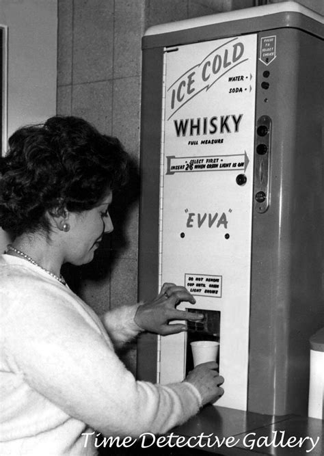 Vintage Ice Cold Whiskey Dispenser - 1950s - Vintage Photo