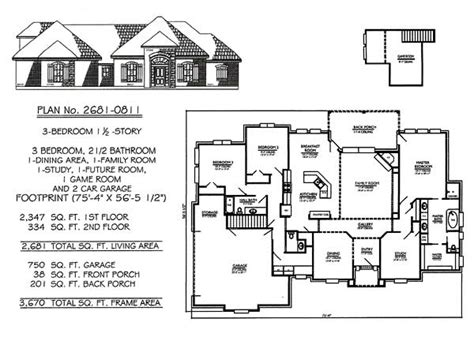 3 Bedroom 2 Bath House Plans 28 X 50 Floor Plan 3 Bedroom 2700 Square Foot Single Story House Plans