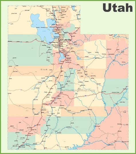 map of utah detailed road map of the state of utah road map of utah with cities