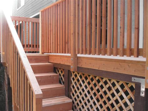 decking banister wood deck stair railing designs wood deck stair railing