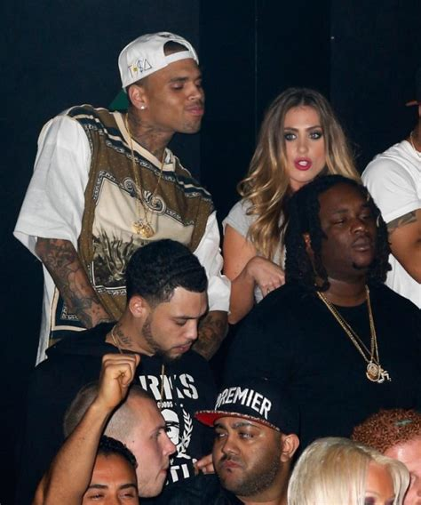 chris brown and girls chris brown spotted with mystery blond while riri tours