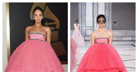 Catwalk To Carpet Morrison In Giambattista Valli by Who Wore What Grammy Awards 2015 Rihanna In