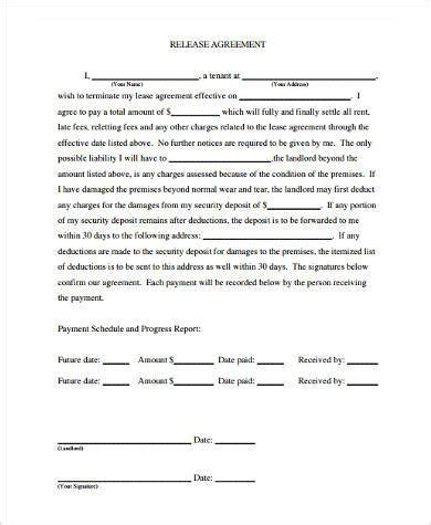 general release agreement template sle release agreement forms 8 free documents in word pdf