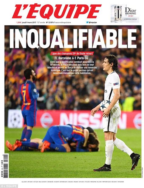 L'Equipe rates seven PSG players two out of 10 | Daily ... L Equipe