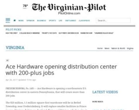 ace hardware recruitment ace hardware opening distribution center with 200 plus