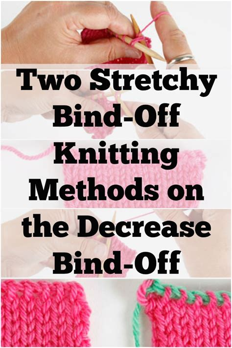 knitting bind methods 37 best essentials to cast on bind knitting images