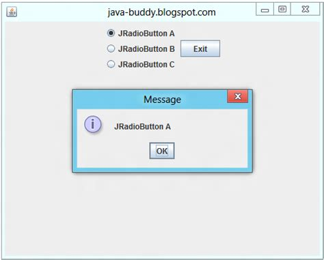 swing actionevent java buddy actionlistener of jradiobutton