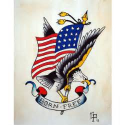 traditional sailor jerry eagle flash by