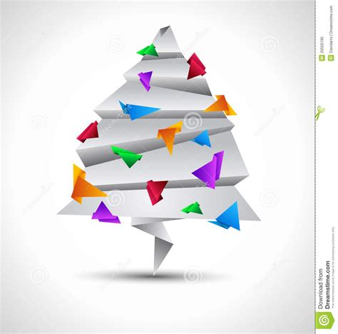 Origami Style - origami style paper tree stock photo image