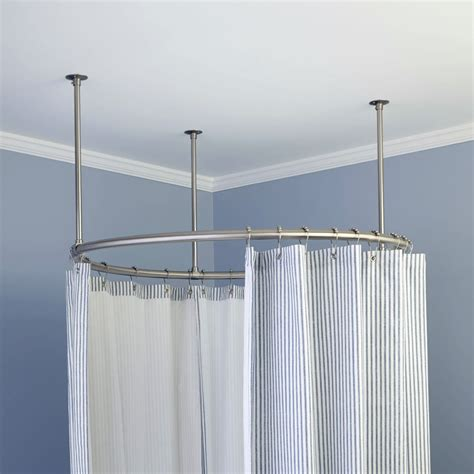 circular curtain rods circular shower curtain rod home design ideas