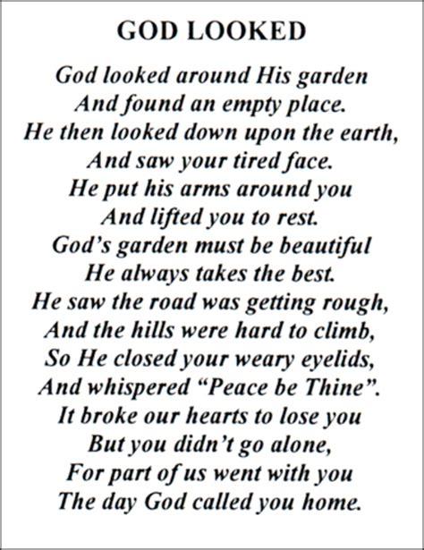 God Looked Around His Garden god looked