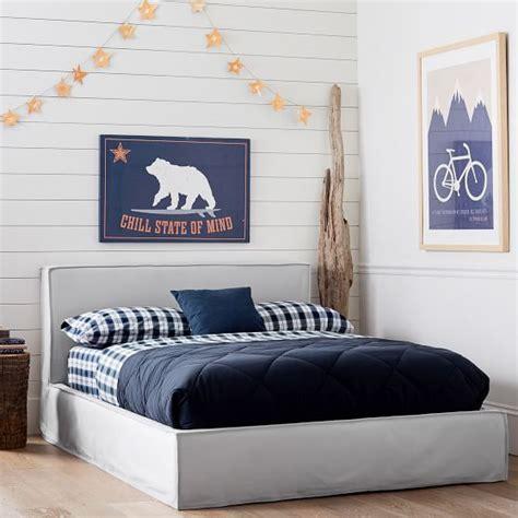 bed frame slipcover reese platform bed frame slipcover set pbteen