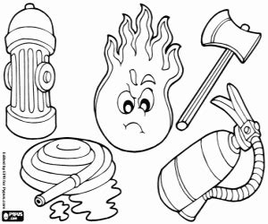 Firefighter Profession Coloring Pages Printable Games sketch template