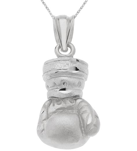 100 0 925 sterling silver boxing glove sports pendant