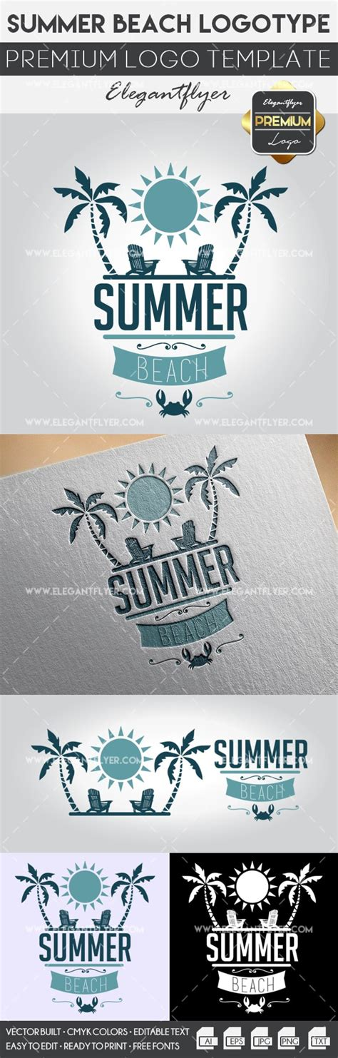 Summer Beach Premium Logo Template By Elegantflyer Premium Logo Templates