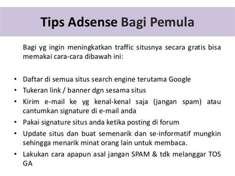 adsense indonesia forum tips google adsense indonesia