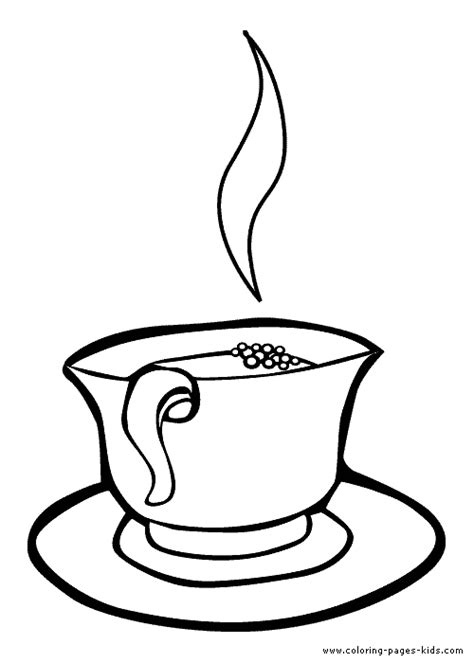 Cup Of Tea Color Page Coloring Pages For Kids Nature Free Printable Tea Cup Coloring Pages