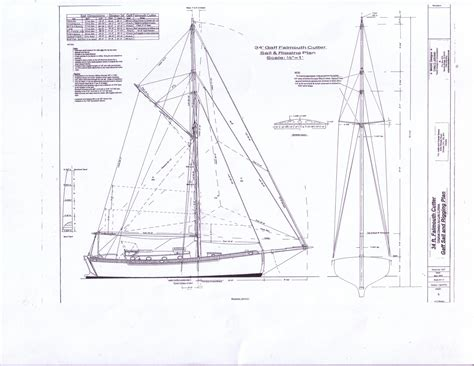 yacht rigging layout gaff sail and rigging plan channel cutter yachts