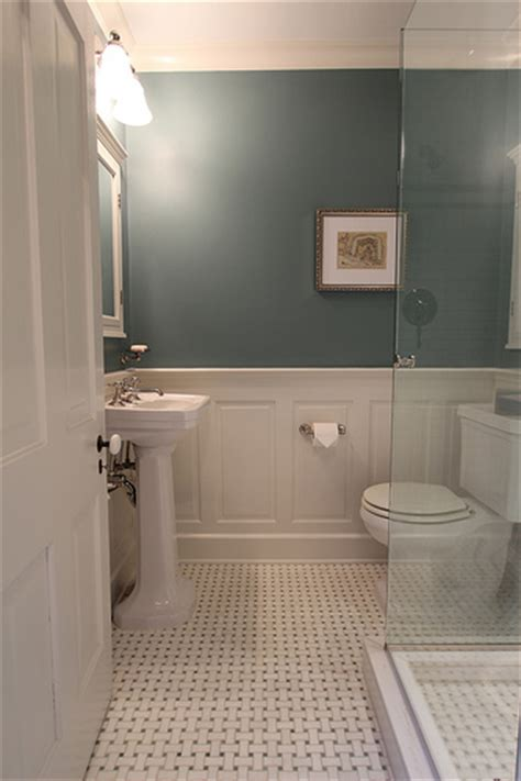 how high should wainscoting be in a bathroom master bathroom design decisions tile vs wood