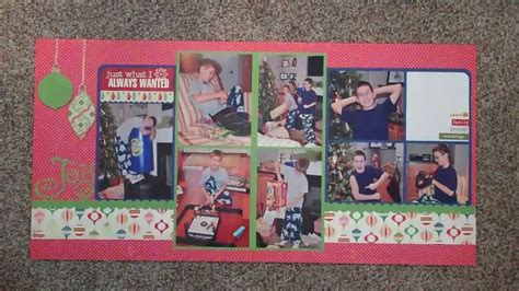 double layout scrapbook pages double page scrapbook layout share youtube