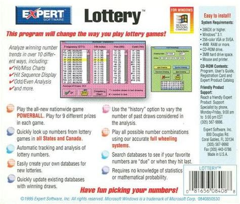 pattern analysis powerball lottery expert lottery pc cd winning strategies beat odds sequence