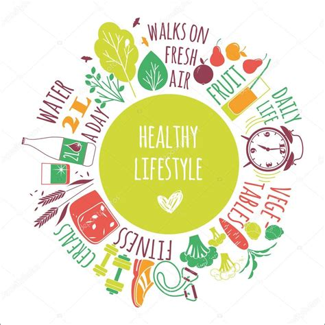 lifestyle templates healthy lifestyle background stock vector 169 nadezda