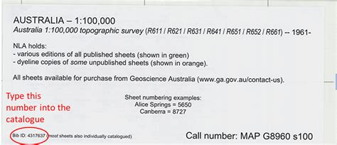 where does the series number on a map appear find and request an australian topographic map national library of australia