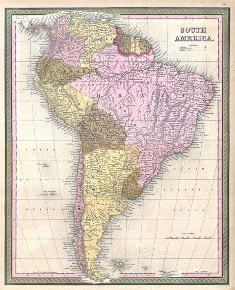 map of usa in 1850 file 1850 mitchell map of south america geographicus