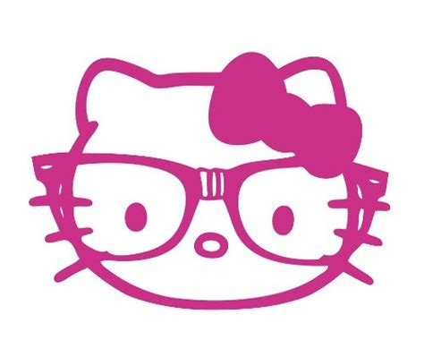 hello kitty nerd face wallpaper buy hello kitty nerd glasses face pink vinyl decal sticker